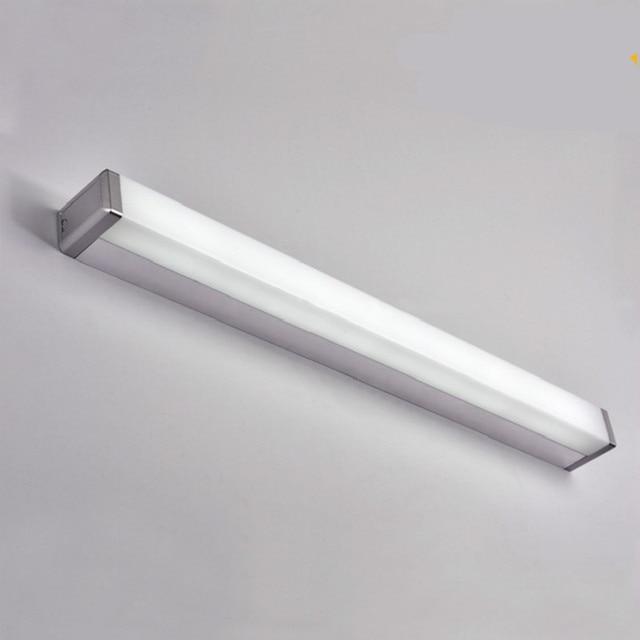 Us 33 92 15 Off Moderne Kurze Mode Einfache Acryl Aluminium Lange Led Spiegel Lampe Fur Badezimmer Wasserdicht Antifog Wand Lampe 45 60 80 Cm 1093