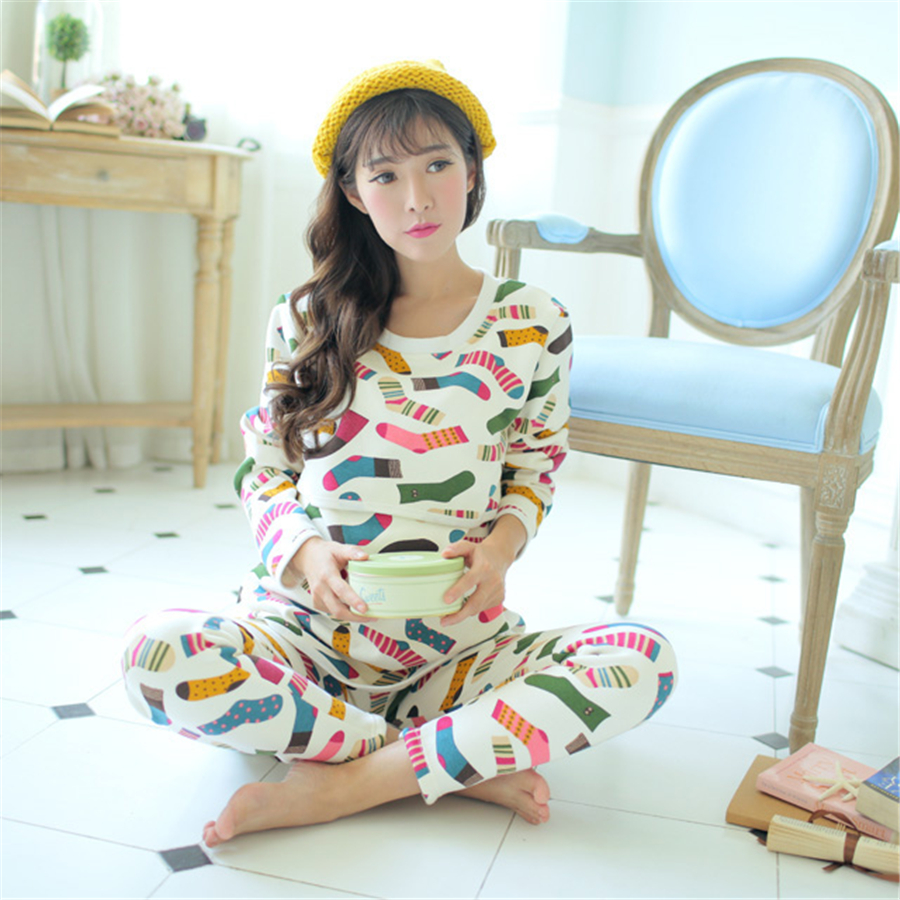 Breastfeeding Maternity Pajamas Nursing Winter Clothes For Pregnant Women Soft Warm Cotton Maternity Nightgown Nursing 70M0177 цена