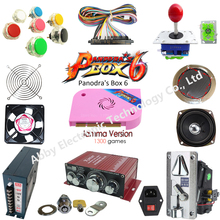 Arcade game parts With Illuminated button LED bulbs holders nuts Joystick player buttons Pandora Box 6