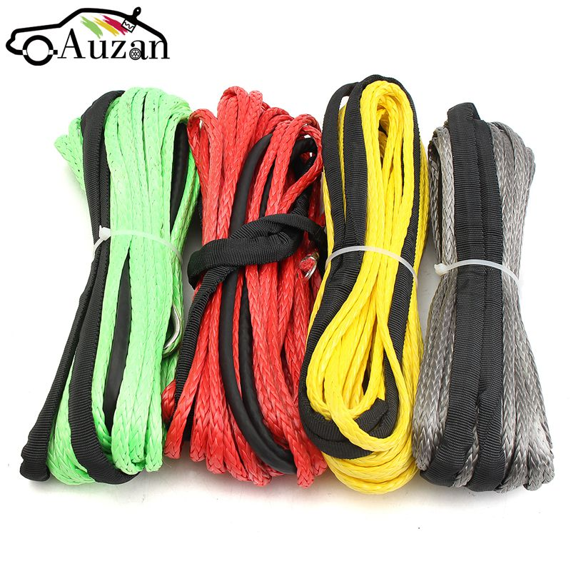 3/16'' x 50' Synthetic Fiber Winch Line Cable Rope 5500+ LBs + Sheath For ATV UTV 5.5mm*15m Synthetic 3500lb winch electric winch 12v 4x4 utv atv winch free shipping