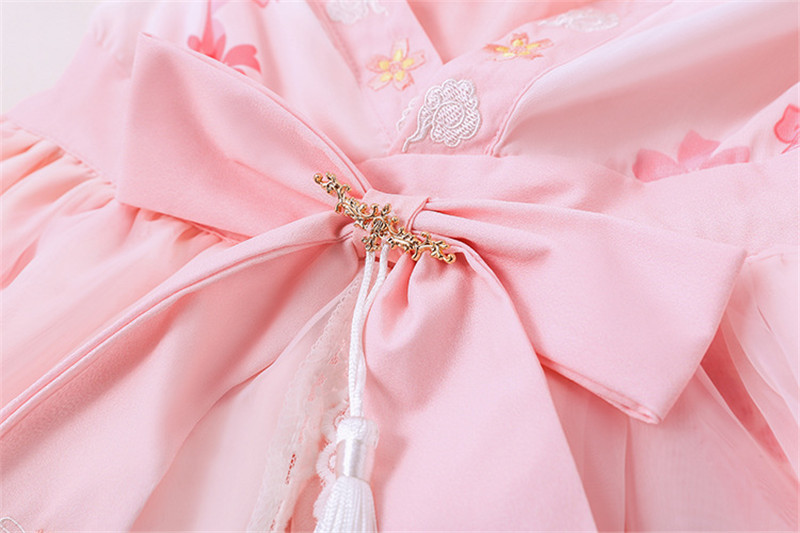 Lolita Dresses 2018 New Lolita Chinese Style Goldfish Jigsaw Fake Two-piece Op Dress Embroidery Bowtie Sweet Girls Cosplay Dress
