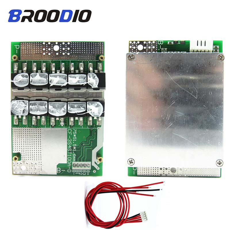 <font><b>BMS</b></font> 4S Lifepo4 <font><b>12V</b></font> 50A 100A 18650 battery pack Lithium Protection Board 3.2V With Balanced Balancer Equalizer Board Common Port image