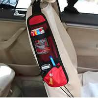 Organizador de coche de tela impermeable para coche, organizador de asiento lateral de coche, teléfono, bolsillo de almacenamiento, organizador colgante para coches