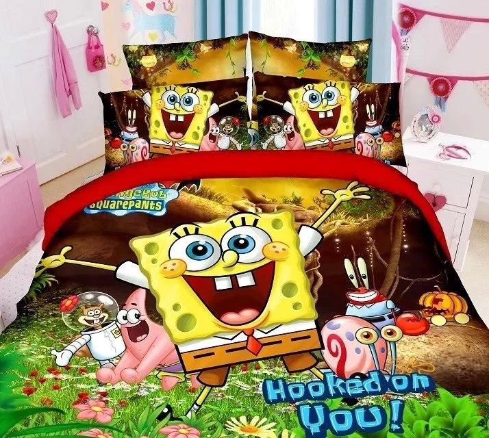 Online Shop SpongeBob Squarepants Bedding Set 100% Cotton Duvet Cover Twin  Size 3pc Sandbeach Bedroom Decor Kids Disney Cartoon Green | Aliexpress  Mobile