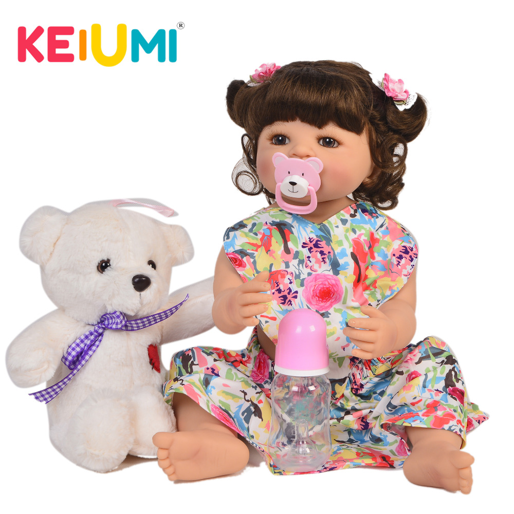 New Arrival 22 Inch Simulate Reborn Dolls Full Body Silicone Realistic Princess Girl Baby Doll Toys
