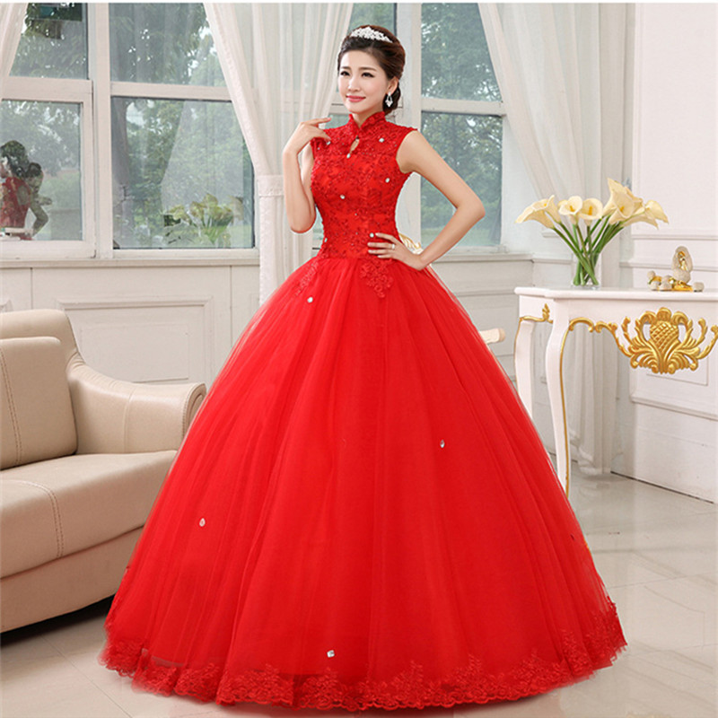 Free shipping YiiYa 2016 white high quality new red tulle Vestidos