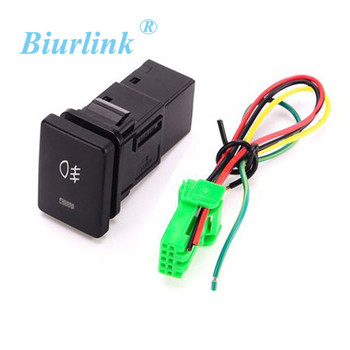 Biurlink Car Fog Light Switch Daytime Running Lights Switch Button for Toyota Camry Collora Yaris Auris RAV4 image