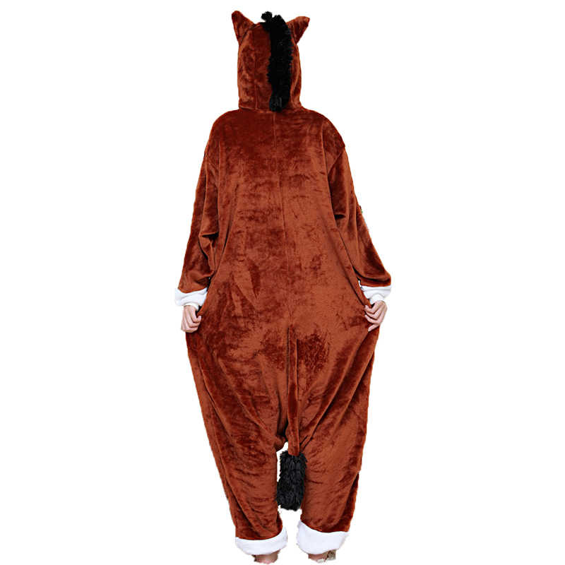... Adult Unisex Women Onesie Wholesale Animal Kigurumi Pajamas Brown Horse  Onesies Hooded Jumpsuit Sleepwear Winter Flannel 9dc99ae4a