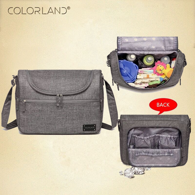 Colorland Brand Baby Bags Messenger Large Diaper Bag Organizer Design Nappy Bags For Mom Fashion Mother Maternity Bag Stroller 5pcs set fashion mother bag diaper bags for mom baby large capacity nappy bags organizer stroller for maternity free shipping