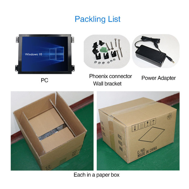 Yanling Factory Core i5 4200u all in one computer with 15'' LCD Resistive Touchscreen Panel PC Support LVDS VGA HDMI Display 5