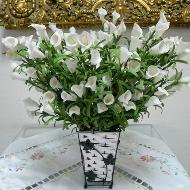 Real Touch Artificial Flowers Cheap Mini Calla Lily White Purple ...
