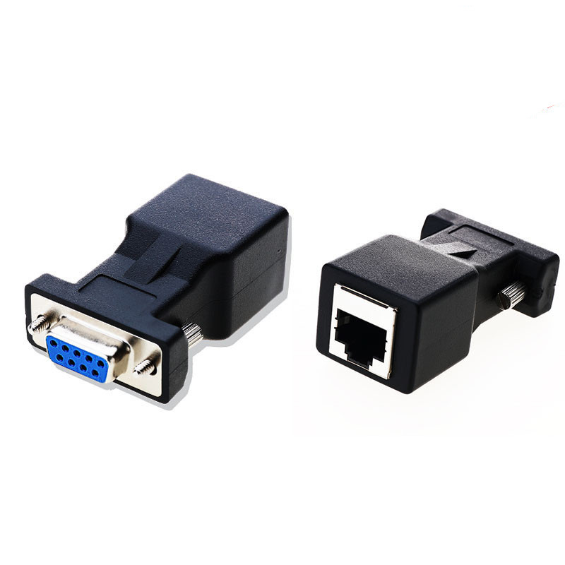 COM Port To LAN Ethernet Port Converter DB9 RS232 Male/Female To RJ45 Female Adapter 1pcs Requires No External Power