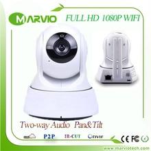 1080P 2MP 2 MegaPixel Full HD IR Night Vision wi-fi wifi IP Camera Wireless cameras, Pan & Tilt P&T home alarm CCTV System