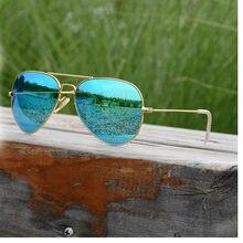 Супер легкий роскошные солнцезащитные очки Для мужчин поляризационные wo Для мужчин большой кадр с антибликовым покрытием Авиатор солнцезащитные очки 62 мм известный лучи ретро зеркало синий