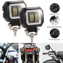 2pcs 40W 8000LM 3 Inch Waterproof Square LED Angel Eyes Light Bar Spot Motorcycle Offroad Car Boat Led Work for Cars