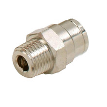 L045 HAIGINT 5pcs High Pressure Misting Connector 1/4' Male Connector 3/8' Quicking Pushing Fitting
