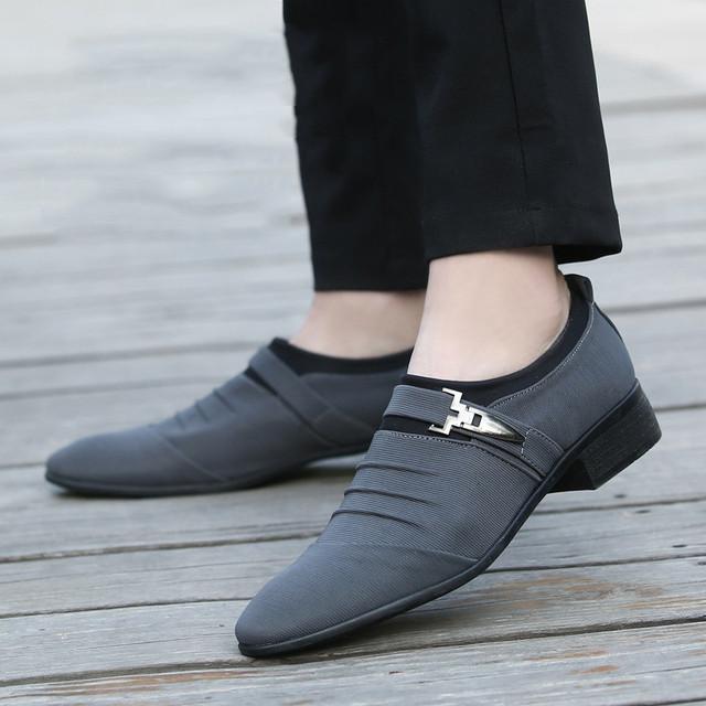 Merkmak Plus Size 38-48 Men Dress Shoes Classic Business Office Oxford Shoes For Men 2018 New Casual British Style Man Flats