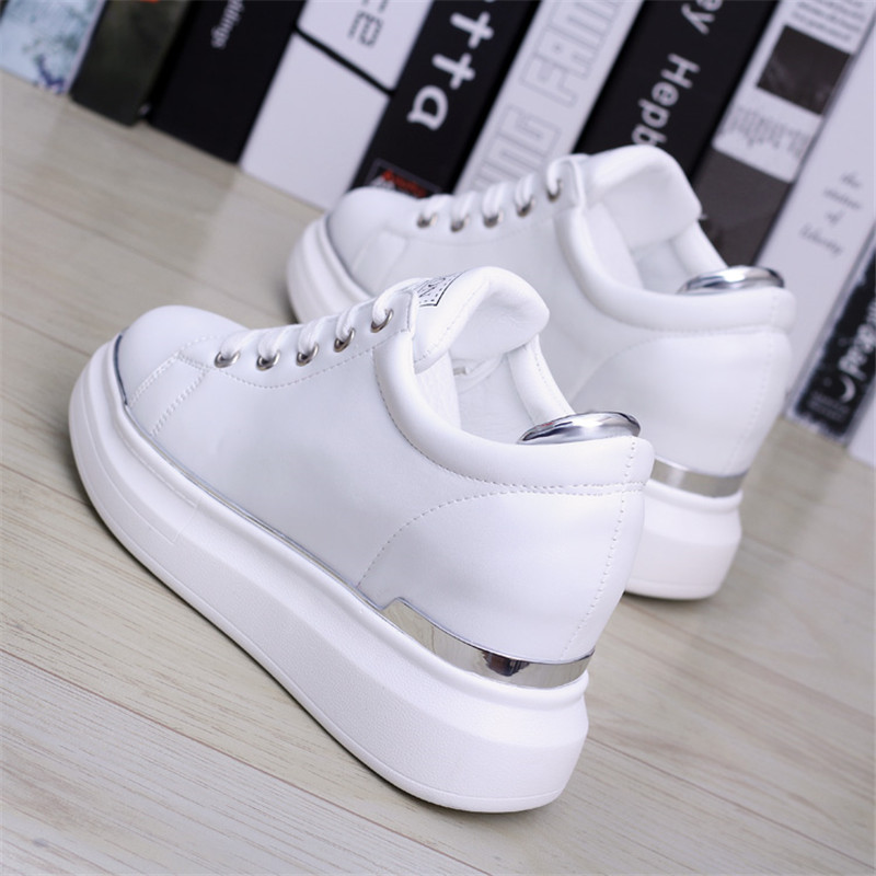 95b8e62653 US $26.36 49% OFF Spring Autumn New Designer Wedges White Ladies Shoes  Woman Platform Sneakers Women 2018 Tenis Feminino Casual Female Shoes  Woman-in ...