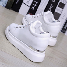 цены Spring Autumn New Designer Wedges White Ladies Shoes Woman Platform Sneakers Women 2018 Tenis Feminino Casual Female Shoes Woman