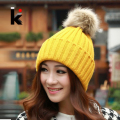 Free shopping 2017 Autumn and winter female hat fashion thermal sphere knitted hat knitted casual cap for women