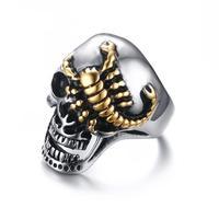 Men S Skull Bone Gothic Rings Gold Plated Scorpions Vintage Biker Rings For Men Jewelry