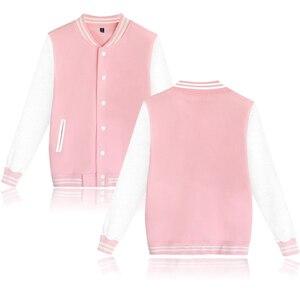 Image 4 - טהור צבע בייסבול מעיל באיכות גבוהה חם גבוהה צווארון מזדמן אופנה החורף/סתיו עבה בתוספת גודל מעילי מותאם אישית