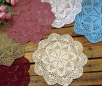 Round Lace Design Trivets Made Of Cotton Material Suitable For Kitchen Accessories
