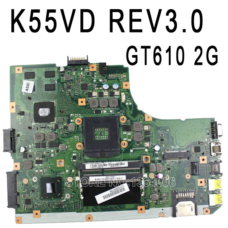 Original R500VD A55V K55V K55VD Motherboard for Asus K55VD REV3.0 Mainboard GT610 2G PGA989 100% Tested Free Shipping k r k naidu a v ramana and r veeraraghavaiah common vetch management in rice fallow blackgram