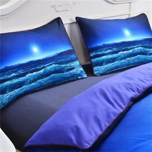 Image 3 - CAMMITEVER deniz dalga nevresim takımı nevresim yastık kılıfı ev tekstili çocuklar 3 Piece AU kral kraliçe