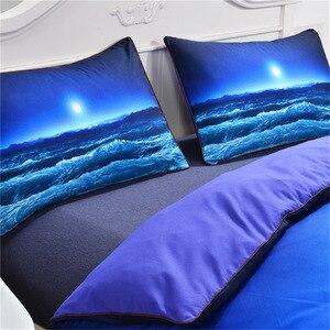 Image 3 - Juego de cama CAMMITEVER Sea Wave, funda de edredón con fundas de almohadas hogar textil para niños, 3 piezas, AU King Queen