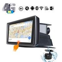 A928 Android ЦВЗ навигатор регистраторы gps трек с 4G слот для сим карты Bluetooth телефон Реверсивный изображения водонепрони
