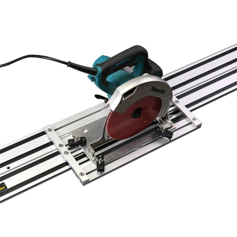 Rail de guidage de scie circulaire électrique universelle avec Base de scie réglable pour scie circulaire, bricolage à bois, ligne droite, Double couche - 2