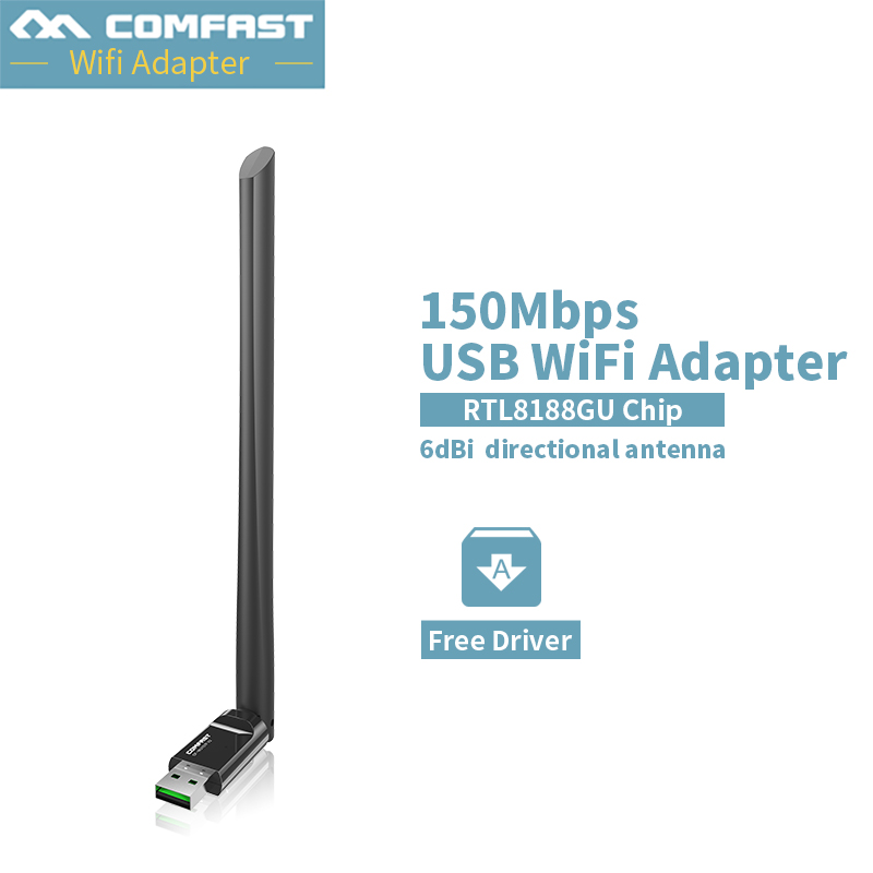 COMFAST Free Driver Usb Wifi Wireless PC Network Card 150Mbps Mini Wifi Adapter With 6dBi Antenna WPS One Key Encryption