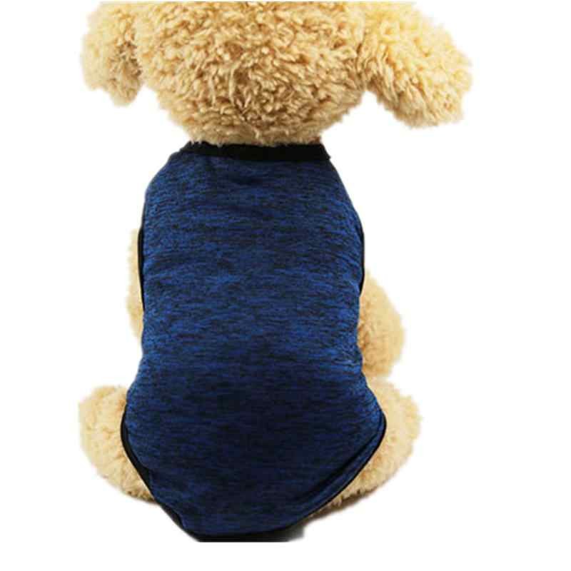 Dog Clothes Summer Pet Shirts For Dogs Costume Cat Clothing Solid Dog Vest Summer Clothes For Dogs Shirts Cotton Vest