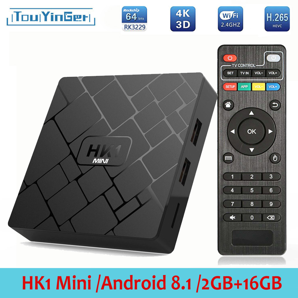 Touyinger Top-Box Media-Player Wifi Android Hk1 Mini H.265 Ddr3-16g EMMC 4K RK3229 2G