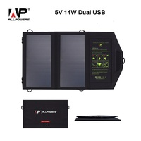 ALLPOWERS 2A 5V 14W Portable Folding Foldable Solar Panel Battery Charger Backpack Outdoor Mobile Power Bank for Mobile Phone