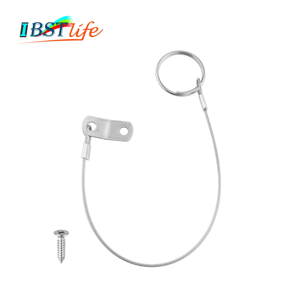 Stainless Steel 316 Lanyard Cable Safety Tether Wire For Loss Prevention 1 Loop With Quick Release Ring & Rubber Coating