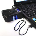 Protable Laptop USB Cooling Fan Cooler Controller LCD Screen Blue Light Metal thermal Cooling Rapidly For Notebook Laptop