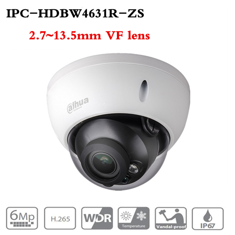 ahua Motorized Zoom Camera IPC HDBW4631R ZS Day Night CCTV IP Camera 30M IR Range Vari Focus Network Camera H.265 6mp Camera-in Surveillance Cameras from Security & Protection
