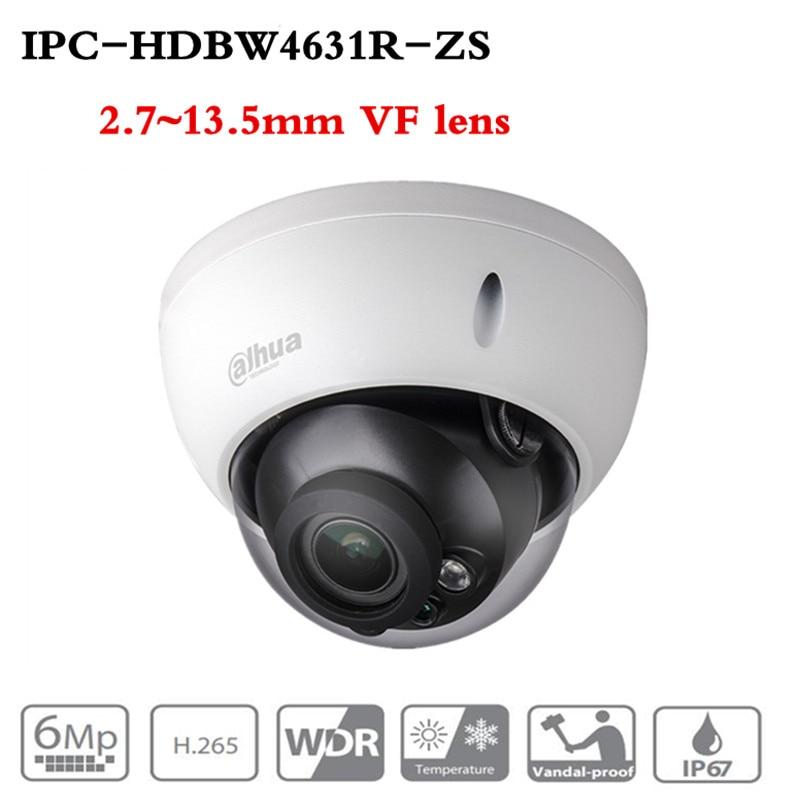 ahua Motorized Zoom Camera IPC HDBW4631R ZS Day Night CCTV IP Camera 30M IR Range Vari Focus Network Camera H.265 6mp Camera-in Surveillance Cameras from Security & Protection
