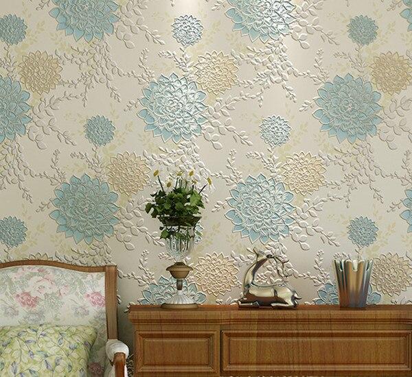 aliexpress : buy 2015 new luxury velvet flocking wallpaper