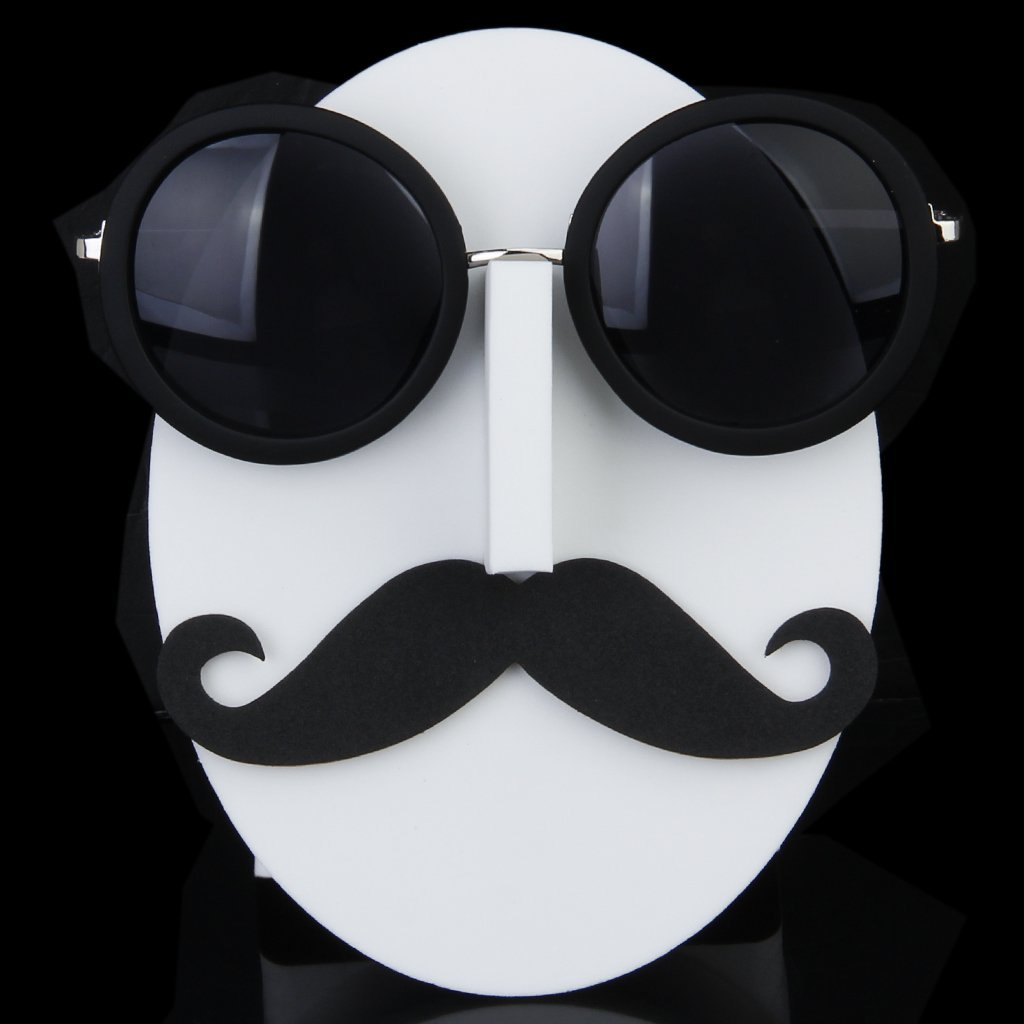 Mustache Face Glasses/Sunglasses/Spectacles Display Stand Holder---A01