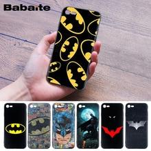 Babaite For iPhone 8 covers cases super hero Batman Soft Rubber black Phone Case for 5 5Sx 6 7 7plus 8Plus X XS MAX XR