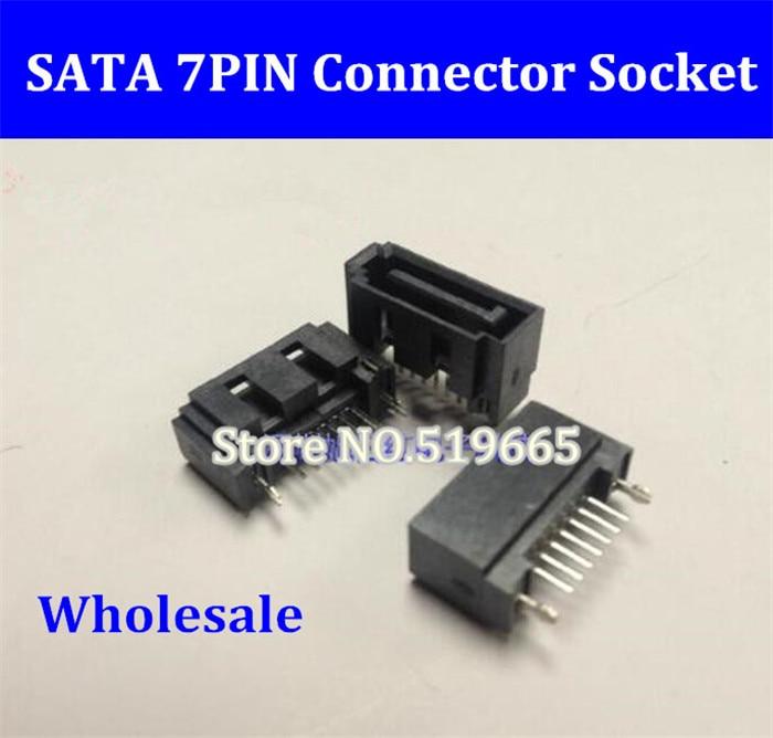 7Pin SATA hard disk interface socket connector 180 degrees leg