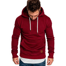 sweatshirt men 2018 NEW hoodies brand male long sleeve solid hoodie men black red big size poleron hombre #0922(China)