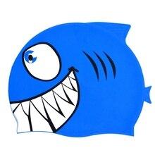 2019 nuevo de natación para niños de dibujos animados de pescado del  impermeable proteger oído tiburón b4a84275a38
