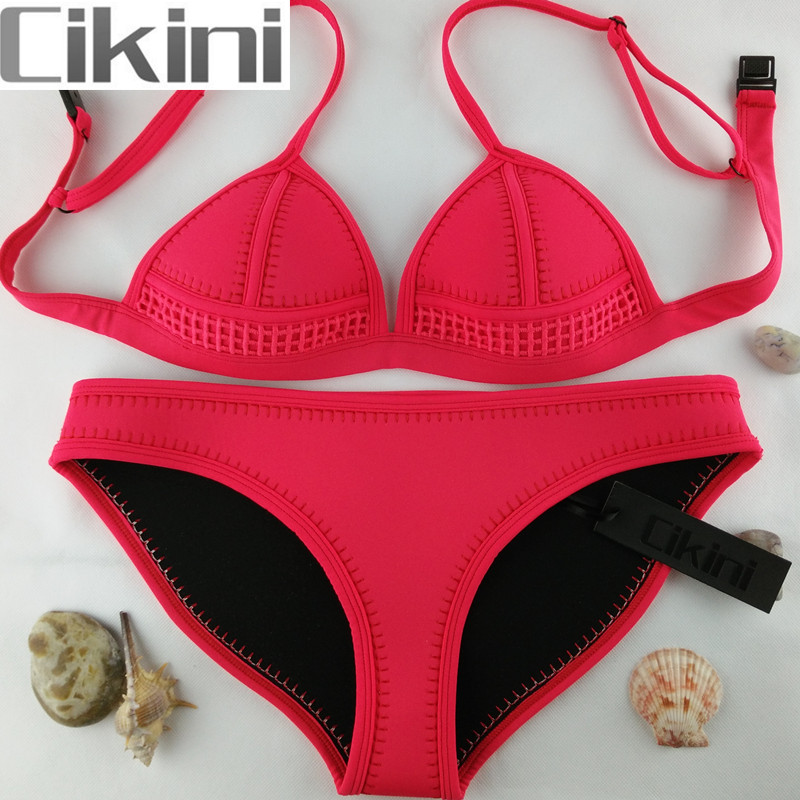 Neoprene Swimwear Women Bikini Woman New Summer 2018 Sexy Swimsuit Bath Suit Bikini set Bathsuit SC003 Cikini neoprene swimwear women bikini woman new summer 2017 sexy swimsuit bath suit push up bikini set bathsuit ta008y