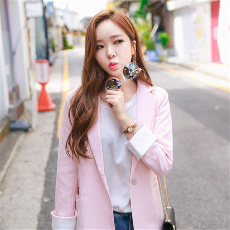 Popular Pink Blazers-Buy Cheap Pink Blazers lots from China Pink