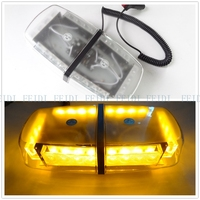 01016 New 24 led 12 v mini Vehicle warning lights led flash car dome light Automotive engineering lamp ,red,blue,white,amber