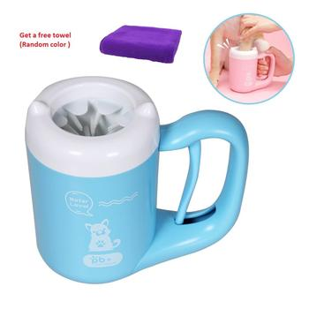 Pet Dog Paw cleaner Cup Cat Dog foot Cleaner Cup Pet Feet Cleaning Soft Paw Foot Brush Dirty Feet Washing Pet Cleaning Supplies